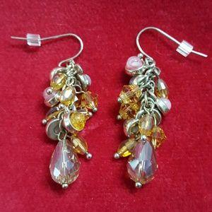 Jewelry - ❤3 for $15! Amber cascaded beaded earrings